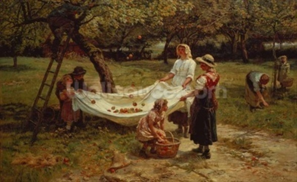 The Apple Gatherers, 1880 wall mural
