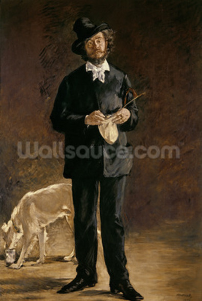 The Artist, or Portrait of Gilbert Marcellin Desboutin, 1875 (oil on canvas) mural wallpaper