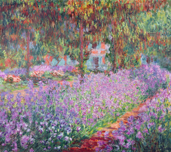 The Artists Garden at Giverny, 1900 (oil on canvas) wall mural