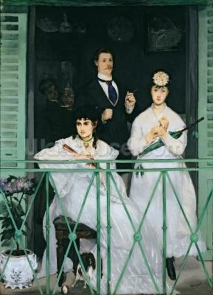 The Balcony, 1868-9 (oil on canvas) wallpaper mural