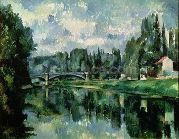 The Banks of the Marne at Creteil, c.1888 (oil on canvas) wallpaper mural