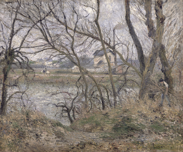 The Banks of the Oise, near Pontoise, Cloudy Weather, 1878 (oil on canvas) wall mural