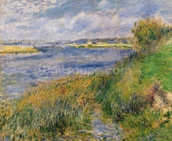 The Banks of the Seine, Champrosay, 1876 (oil on canvas) wall mural