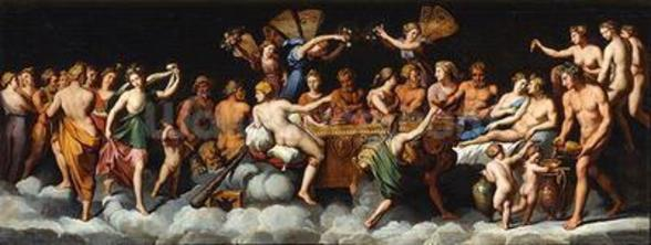 The Banquet of the Gods (oil on canvas) mural wallpaper
