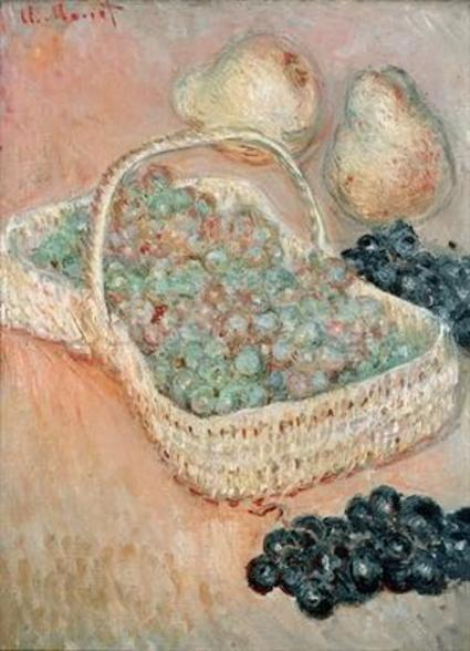 The Basket of Grapes, 1884 (oil on canvas) wall mural