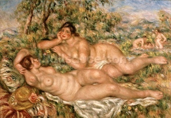 The Bathers, c.1918-19 (oil on canvas) wallpaper mural