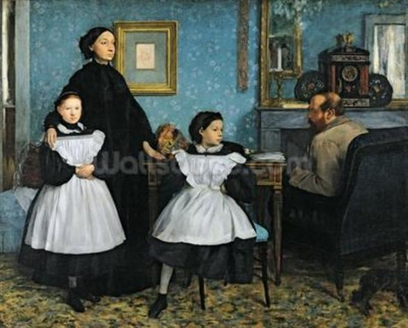 The Bellelli Family, 1858-67 (oil on canvas) mural wallpaper