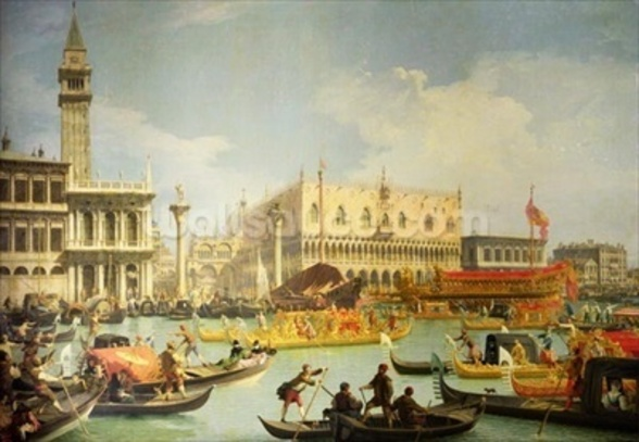The Betrothal of the Venetian Doge to the Adriatic Sea, c.1739-30 (oil on canvas) wall mural