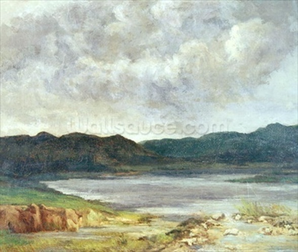 The Black Lake, 1872 (oil on canvas) wall mural