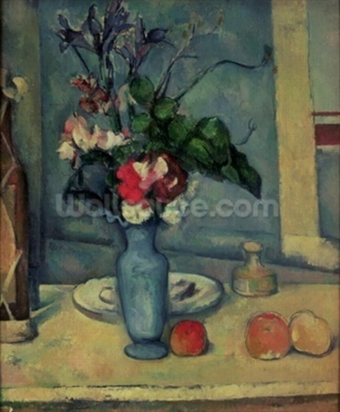 The Blue Vase, 1889-90 (oil on canvas) wallpaper mural