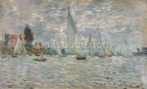The Boats, or Regatta at Argenteuil, c.1874 (oil on canvas) wall mural