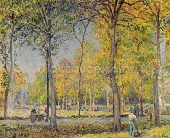 The Bois de Boulogne (oil on canvas) wall mural