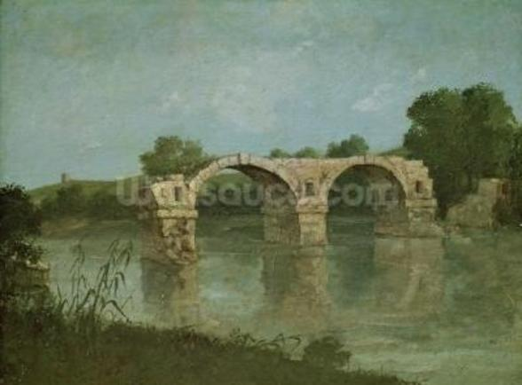 The Bridge at Ambrussum (oil on canvas) wall mural