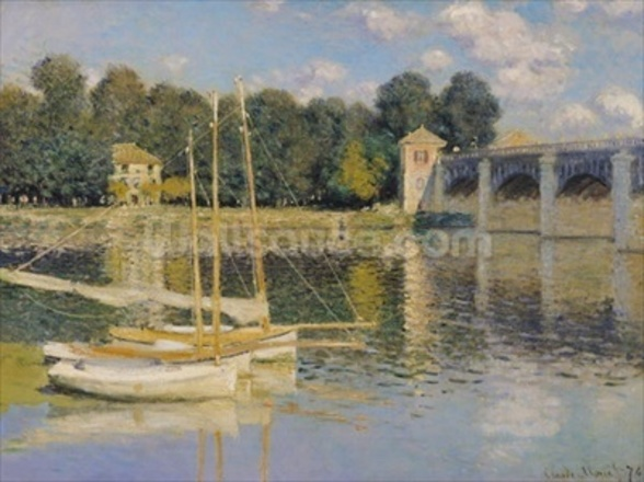 The Bridge at Argenteuil, 1874 (oil on canvas) wall mural