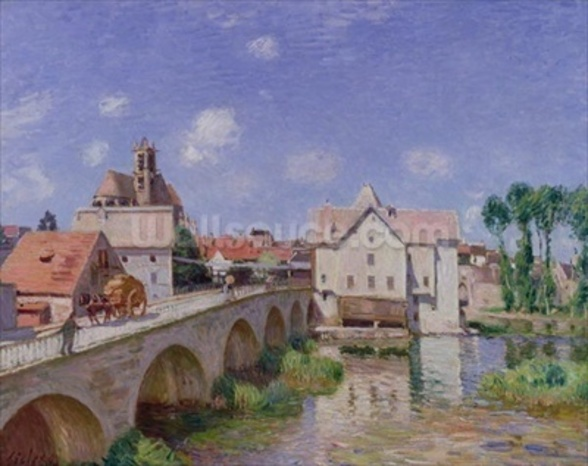 The Bridge at Moret, 1893 (oil on canvas) wall mural