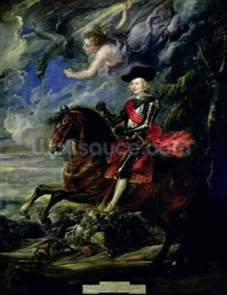 The Cardinal Infante Ferdinand at the Battle of Nordlingen, c.1634 wall mural