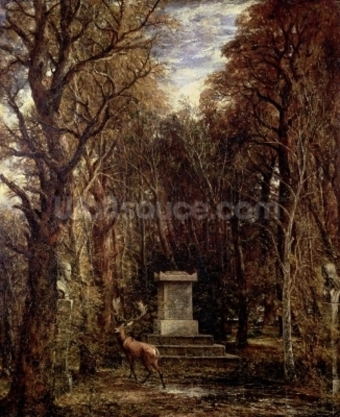 The Cenotaph to Reynolds Memory, Coleorton, c.1833 (oil on canvas) wall mural