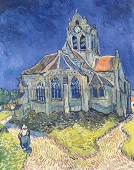 The Church at Auvers-sur-Oise, 1890 (oil on canvas) wall mural