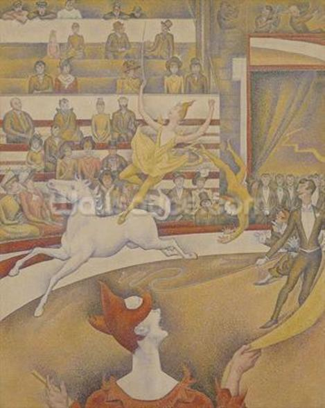 The Circus, 1891 (oil on canvas) mural wallpaper