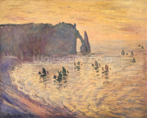 The Cliffs at Etretat, 1886 mural wallpaper