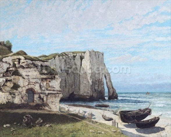 The Cliffs at Etretat after the storm, 1870 (oil on canvas) wallpaper mural