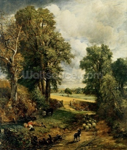 The Cornfield, 1826 (oil on canvas) wallpaper mural