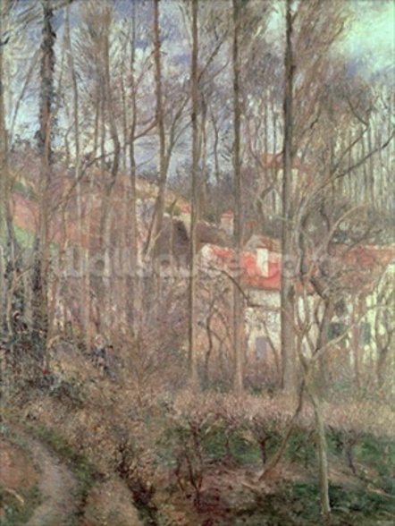 The Cote des Boeufs at LHermitage, Pontoise, 1877 (oil on canvas) wall mural