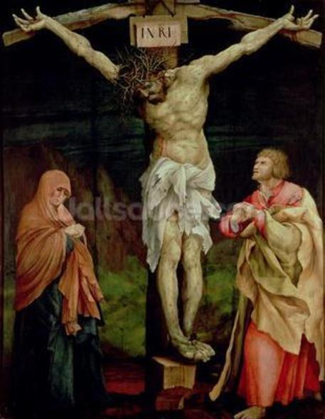 The Crucifixion, c.1525 (oil on panel) wall mural