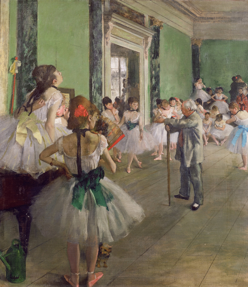 The Dancing Class, c.1873-76 (oil on canvas) wallpaper mural