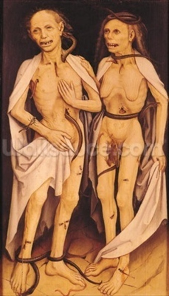 The Dead Lovers (oil on panel) wall mural