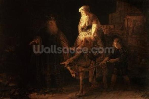 The Departure of the Shemanite Wife (oil on canvas) wall mural
