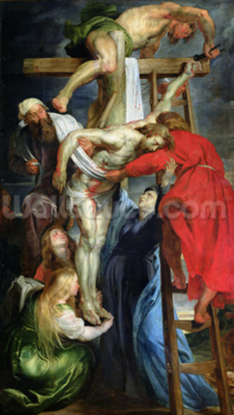 The Descent from the Cross, c.1614-15 (oil on canvas) wall mural