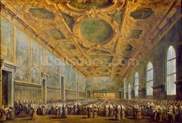 The Doge of Venice Thanking the Council, after 1775 (oil on canvas) wallpaper mural
