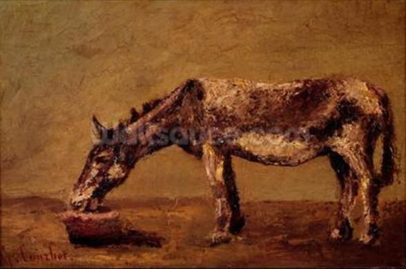 The Donkey (oil on canvas) mural wallpaper
