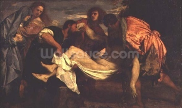 The Entombment of Christ (oil on canvas) wall mural