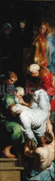 The Entombment of St. Stephen, from the Triptych of St. Stephen (oil on panel) wall mural