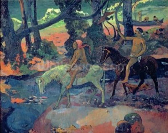 The Escape, The Ford, 1901 wall mural