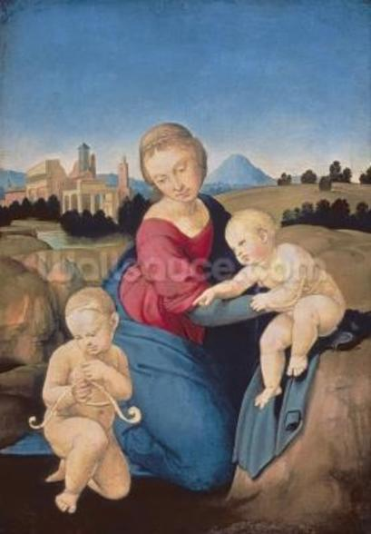 The Esterhazy Madonna, c.1507-08 (tempera & oil on poplar panel) mural wallpaper
