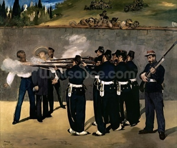 The Execution of the Emperor Maximilian, 1867-8 (oil on canvas) wall mural