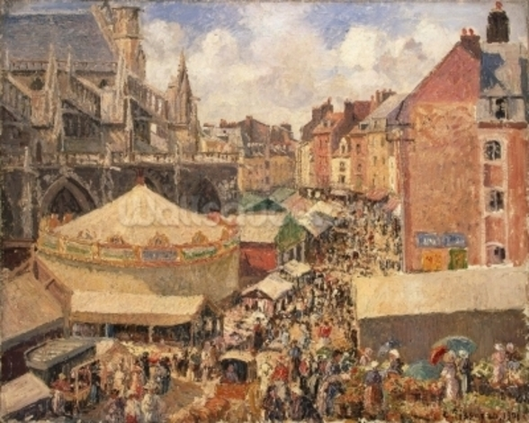 The Fair in Dieppe, Sunny Morning, 1901 (oil on canvas) wall mural