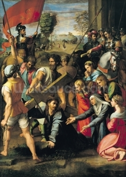 The Fall on the Road to Calvary, 1517 (oil on canvas) mural wallpaper
