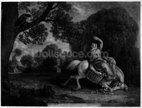 The Farmers Wife and the Raven, engraved by the artist, pub. 1788 (etching) (see also 123112) wall mural