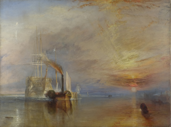 The Fighting Temeraire, 1839 (oil on canvas) wall mural