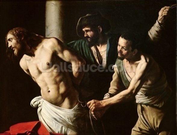 The Flagellation of Christ, c.1605-7 (oil on canvas) wall mural