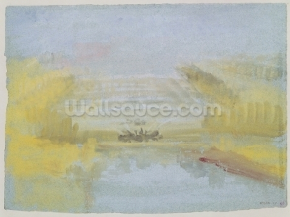 The Fountains at Versailles, 1826-33 (w/c on paper) mural wallpaper