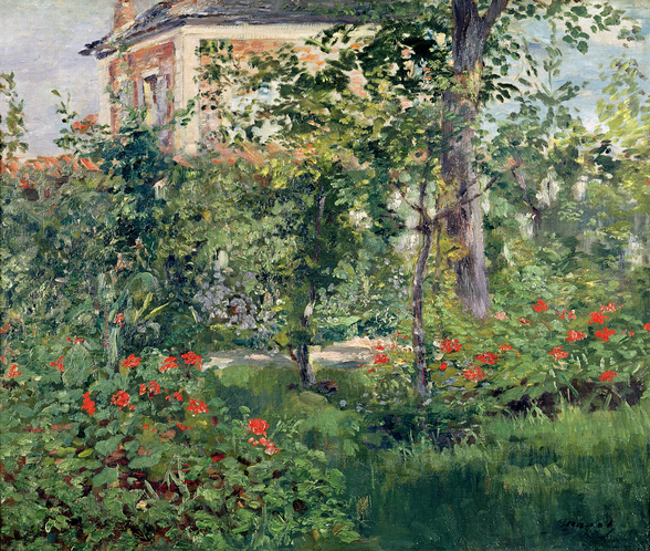 The Garden at Bellevue, 1880 (oil on canvas) wallpaper mural