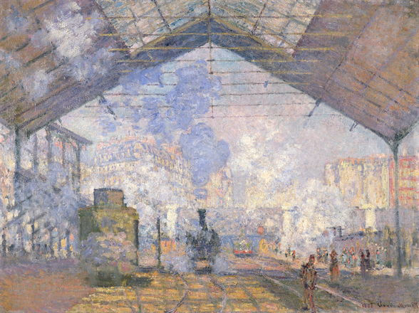 The Gare St. Lazare, 1877 (oil on canvas) wall mural
