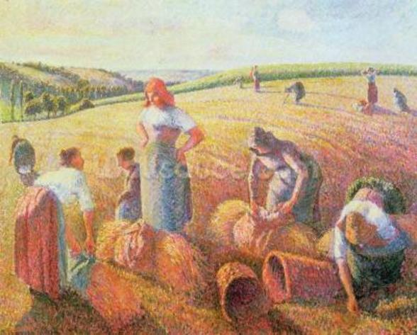 The Gleaners, 1889 (oil on canvas) mural wallpaper