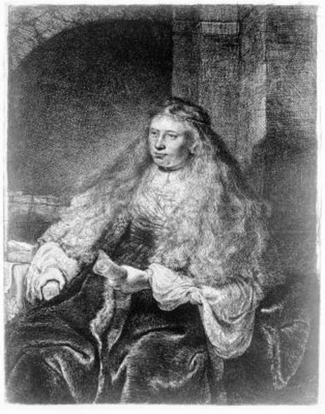 The Great Jewish Bride, 1635 (etching) wall mural