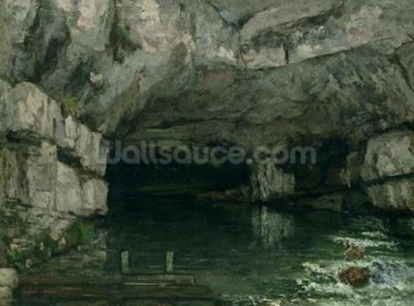 The Grotto of the Loue, 1864 (oil on canvas) wall mural